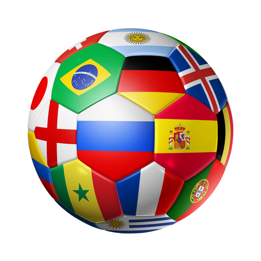 3D ball with national flags 00852