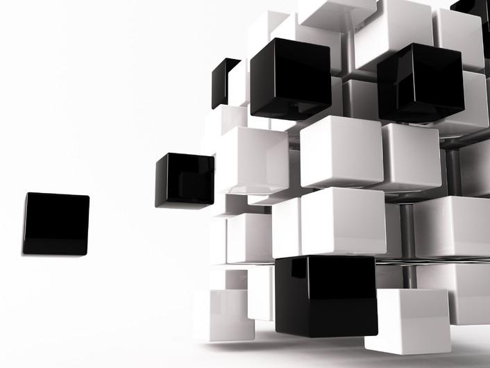 3D cube on white 00923