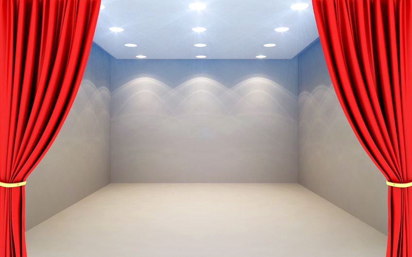 3D empty room with red 00560