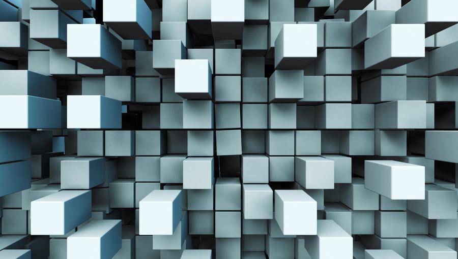 A bulk layer of metal squares 00388