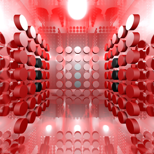 Abstract Red Digital Interior 00866