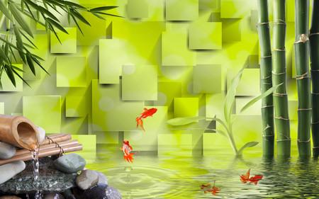 абстрактное озеро 01073