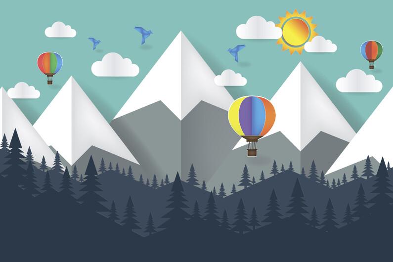 Абстрактные горы 01364