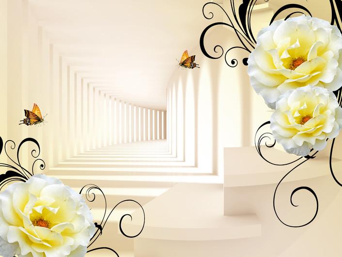 абстрактные цветы 01148