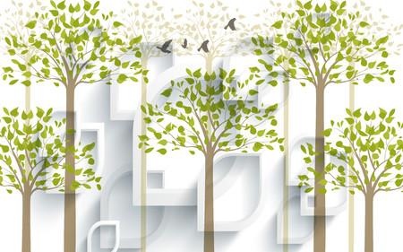 абстрактный лес 01237