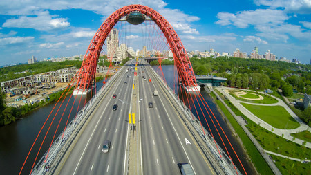Aerial landscape in Moscow 00758