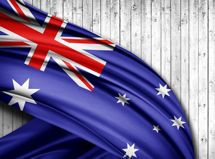 Australia flag 00324