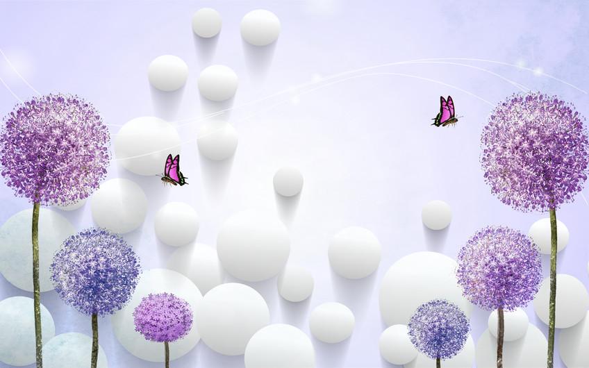 бабочки и одуванчики 01204
