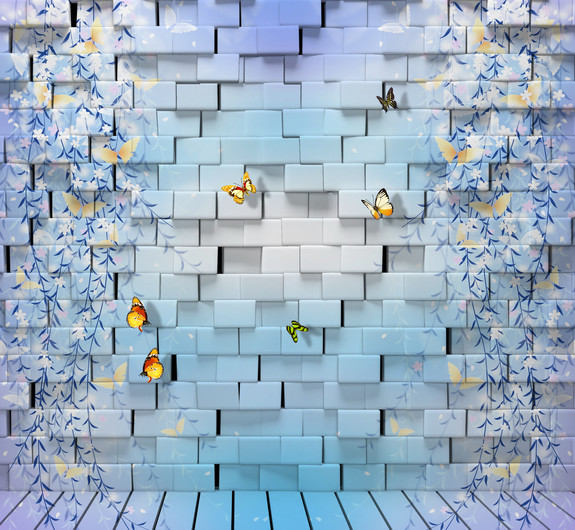 бабочки на стене 01082