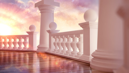 Balcony with terrace 3D 00889