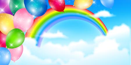 Balloon rainbow sky 00364