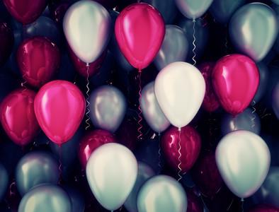 Balloons dark retro 00949