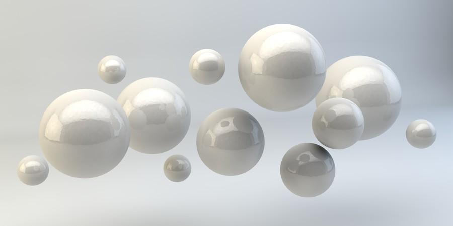 Balls on white 3D 00895