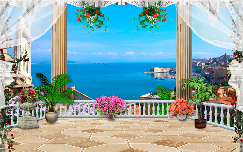 Beach and pool 3D 00844