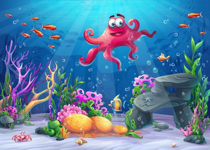 Beautiful octopus 00184