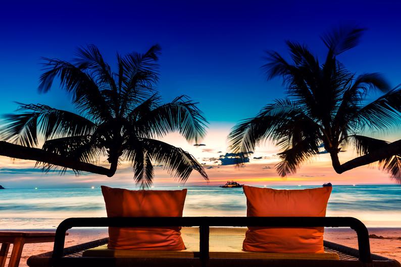 Bed on Bali beach 00734