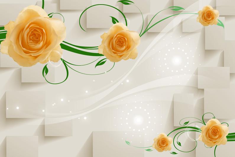 бежевые розы 01106