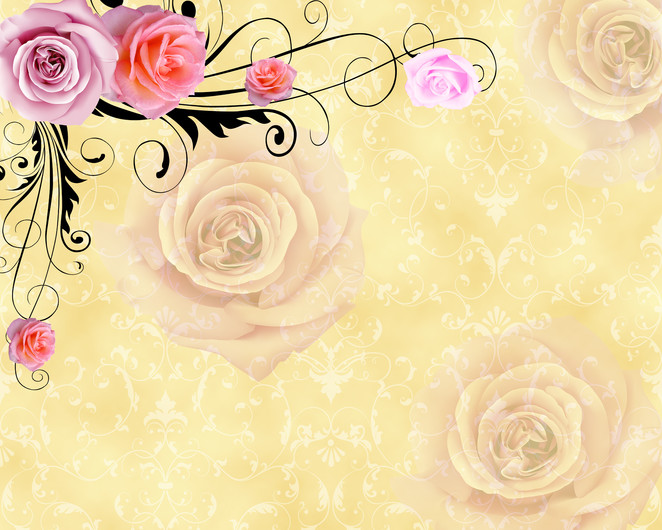 Бежевые розы 01112