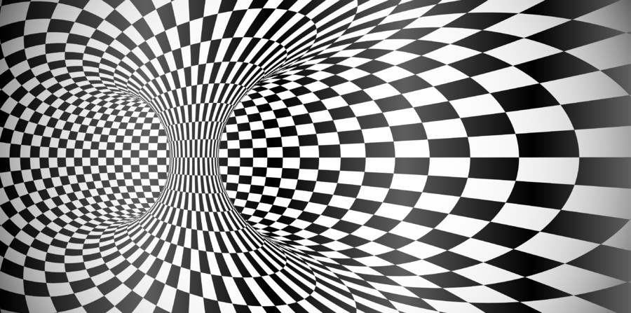 Black and white optical illusion 00896