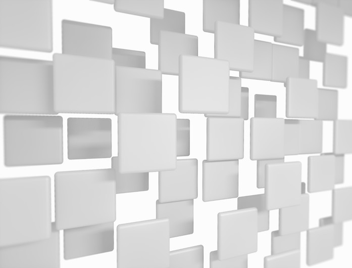 Blank 3D squares 00385