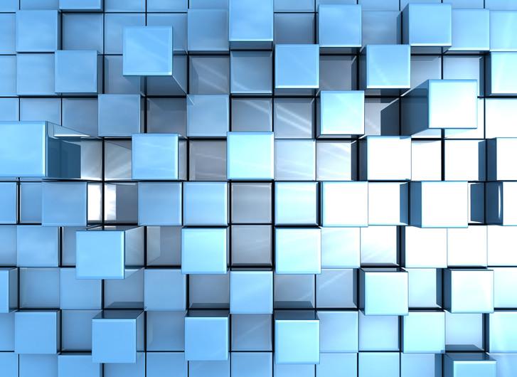 Blue cubes 00215