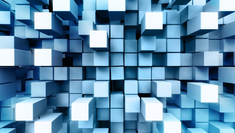 Bulk layer of metal squares 00386