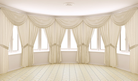 Classical interior with curtains 00561