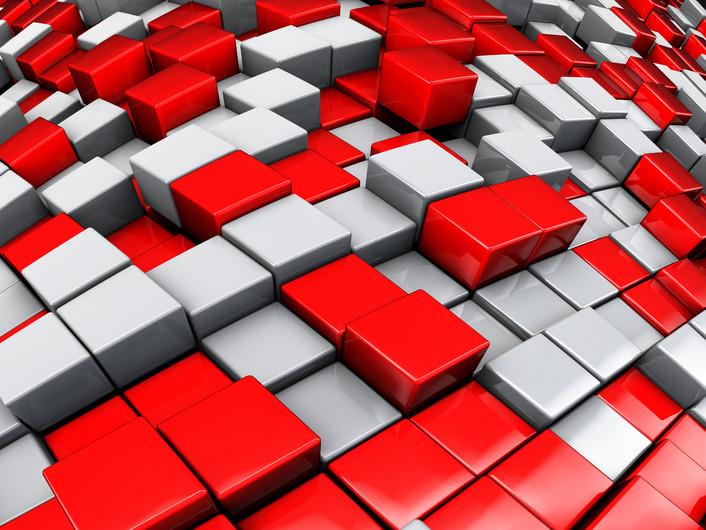 Concept of cubes city 00380