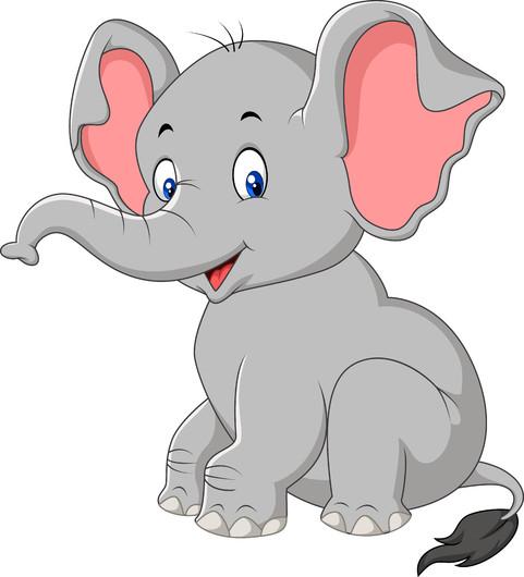Cute baby elephant 00369