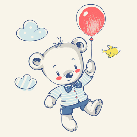 Cute little bear 00363