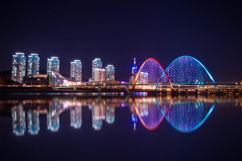 Daejeon Expo bridge of Korea. 00956