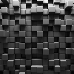 Dark Grey Cube 3D 00980