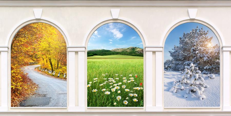 Designer window of the seasons 00471