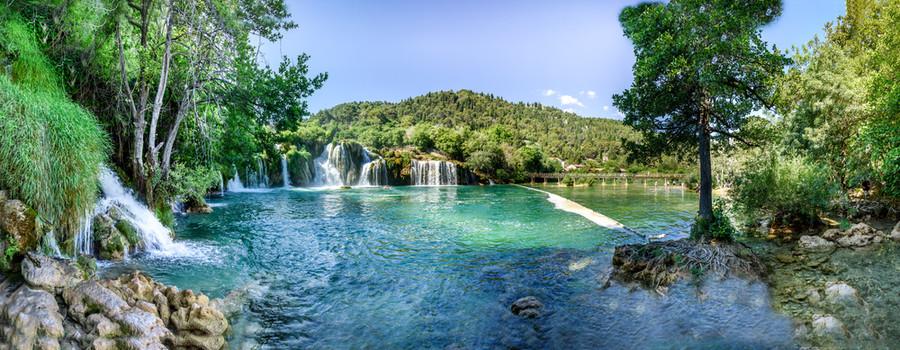 Waterfall KRKA NATIONAL PARK,CROATIA 00299