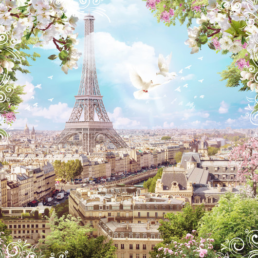 Eiffel tower city view 00424
