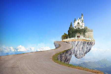Fabulous castle on the rocks 00885