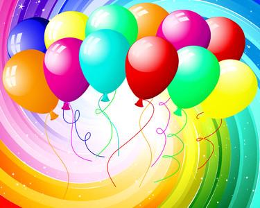 Festive balloons 00345