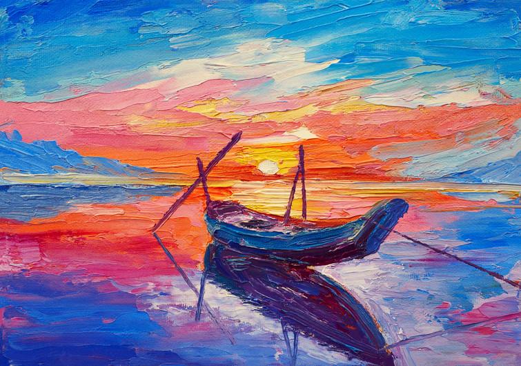 Fishing boats at sea 00822