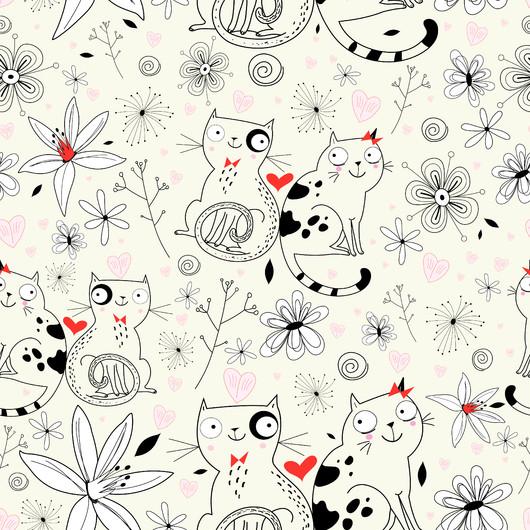 Flower texture cats 00346