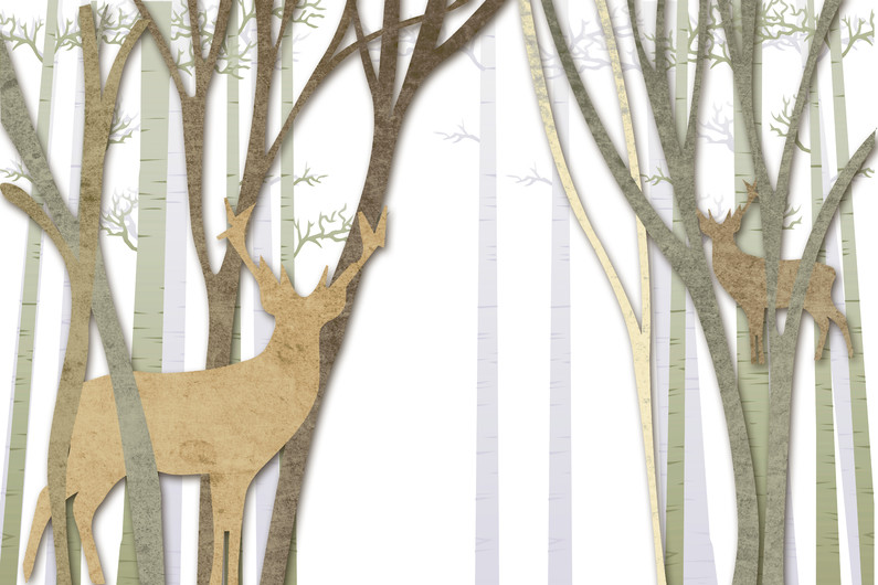 forest and reindeer 01032