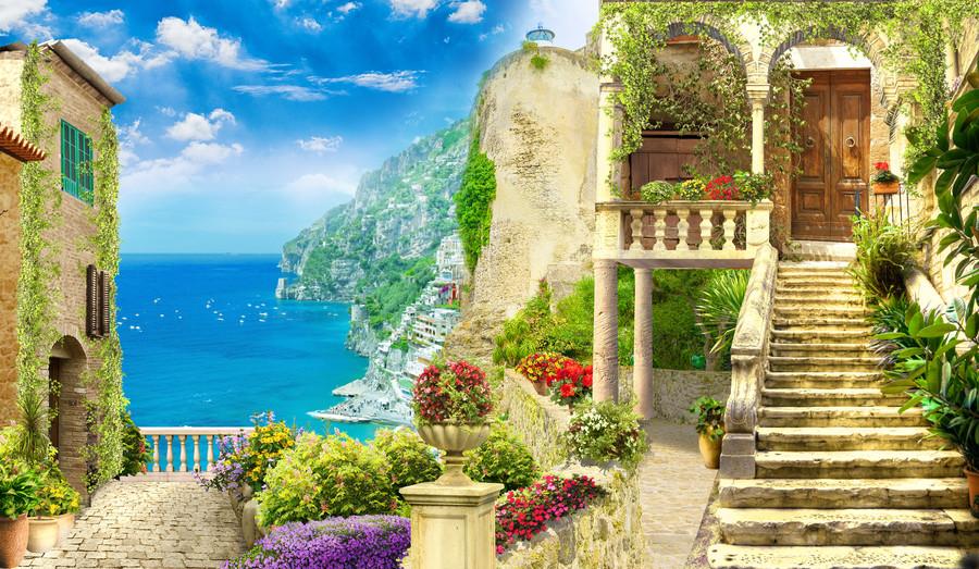Fresco. Italy view 00824