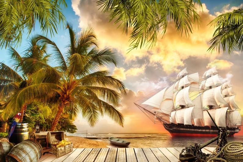 Fresco. Pirate ship 00725
