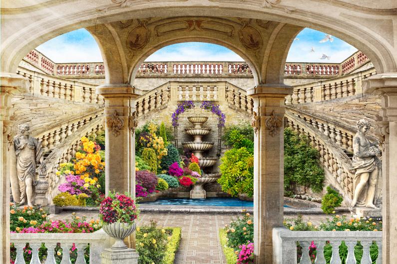 Garden fountain 00263