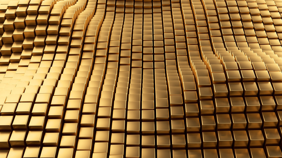 Golden Abstract Background. 3D 00877
