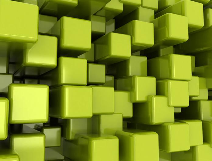 Green cubes 00933