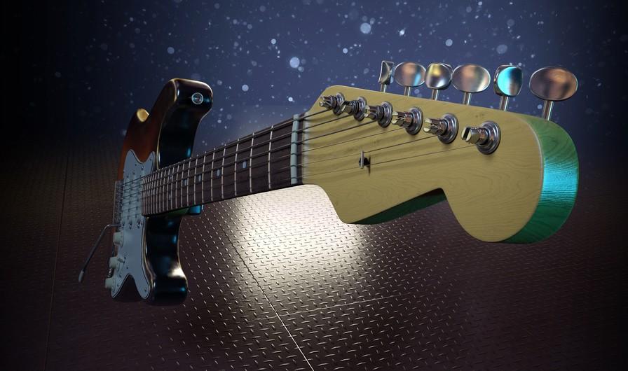 Guitar fretboard 00333