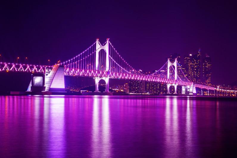 Haeundae bridge night Korea 00958