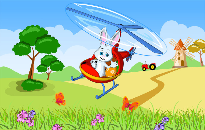 Hare by helicopter 00374