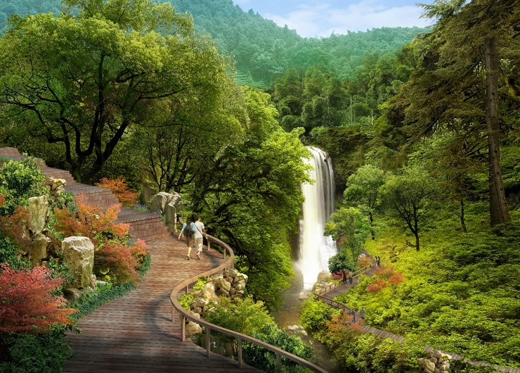 Japanese waterfall 00598