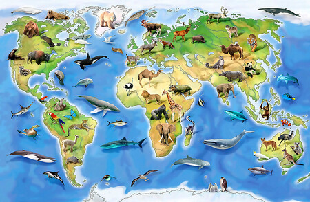 карта с животными 01465
